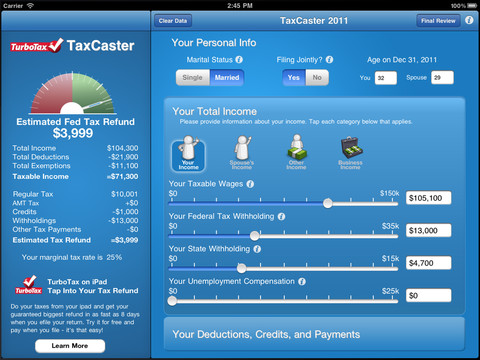 Federal income tax withholding chart for 2012, 2013, The federal